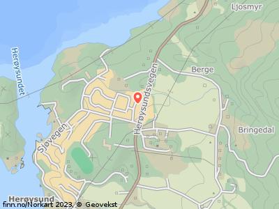 Kart som viser SOLHEIMSVEGEN 4, 5462 Herøysundet