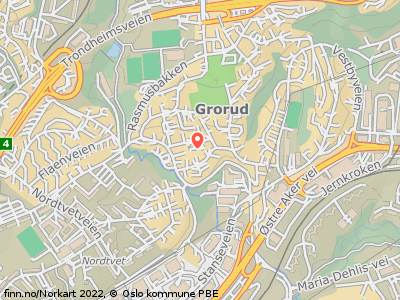 26177cb4 Hallvard Bergves vei 5 B, 0976 Oslo Kart. Pene og velholdte gardiner med  perlebånd ...