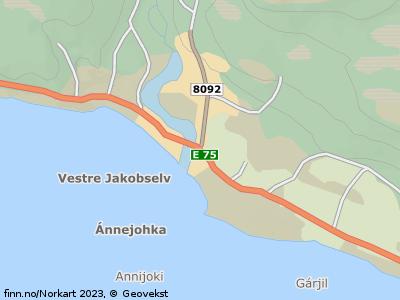 Kart som viser Svingen, 9802 Vestre Jakobselv